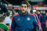 Former Swansea City Player Danny Graham arrives at the Liberty stadium Prior to the Barclays Premier League match between Swansea City and Sunderland played at the Liberty Stadium, Swansea  on  January the 13th 2016