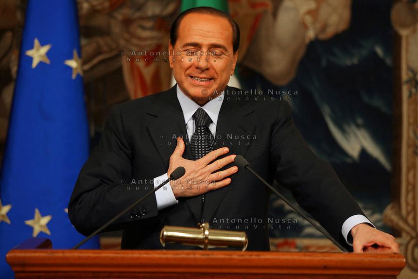 Roma, 19, Dicembre 2005..Silvio Berlusconi con il cancelliere Angela Merkel