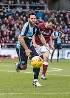 Sam Wood of Wycombe Wanderers during the Sky Bet League 2 match between Northampton Town and Wycombe Wanderers at Sixfields Stadium, Northampton, England on the 20th February 2016. Photo by Liam McAvoy.