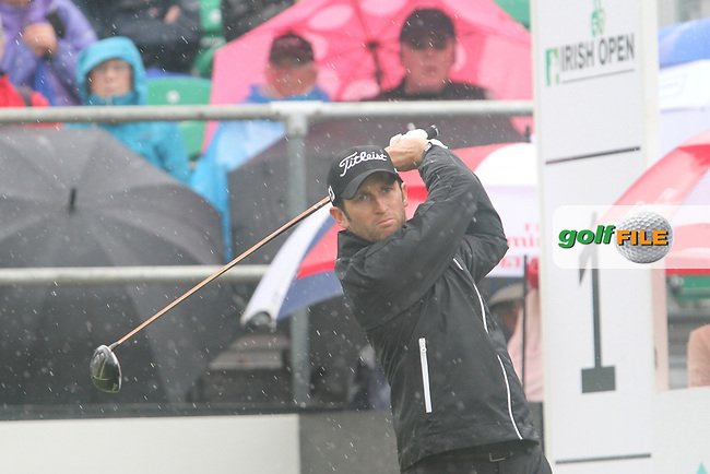 Gregory Bourdy (FRA) on the 1st on Day 3 of the 2012 Irish Open at Royal Portrush Golf Club, Portrush, Co.Antrim, 30/6/12...(Photo Jenny Matthews/www.golffile.ie)