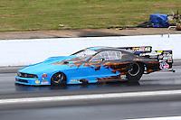 May 19, 2014; Commerce, GA, USA; NHRA pro mod driver Kevin Fiscus during the Southern Nationals at Atlanta Dragway. Mandatory Credit: Mark J. Rebilas-USA TODAY Sports