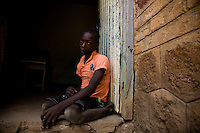 Justin Kamis' father was killed by the LRA in Manzagara, Congo. He is was brought on the back of a bicycle by well wishers to Naandi, South Sudan. He was saved because he hid behind  the latrine..he is currently living with an elderly woman who has offered to care for him.