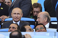 Vladimir Putin the President of Russia with FIFA President Sepp Blatter
