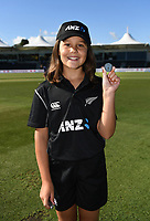 ANZ Coin toss winner.<br /> New Zealand Blackcaps v England. 5th ODI International one day cricket, Hagley Oval, Christchurch. New Zealand. Saturday 10 March 2018. &copy; Copyright Photo: Andrew Cornaga / www.Photosport.nz