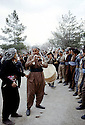 Iraq 1972<br /> Men dancing for Nowruz in the street of Salaheddin and musicians<br /> Irak 1972<br /> Hommes dansant dans une rue de Salaheddin pour les fetes de Nowruz et les musiciens