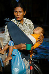 A beggar mother and child. Mae Sot on the Thai-Burmese border.