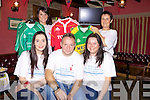 Fundraiser for Our Lady's Hospital, Crumlin, was held in Jack O'Rourkes Bar, Abbeyfeale last friday night b l-r Martina Riordan, Margaret Riordan, f l-r Laura Daly, Dennis Riordan and Louise Riordan.
