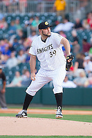 Charlotte Knights starting pitcher Felipe Paulino (39) in action against the Lehigh Valley IronPigs at BB&T Ballpark on May 8, 2014 in Charlotte, North Carolina.  The IronPigs defeated the Knights 8-6.  (Brian Westerholt/Four Seam Images)