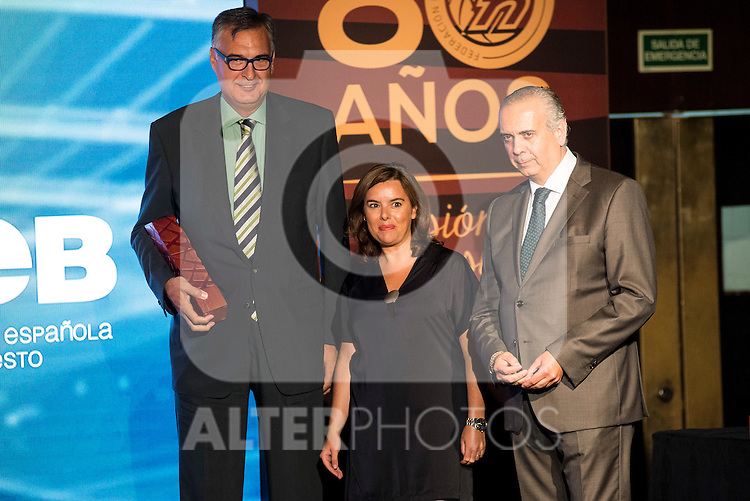 Luis Miguel Santillana during the 80th Aniversary of the National Basketball Team at Melia Castilla Hotel, Spain, September 01, 2015. <br /> (ALTERPHOTOS/BorjaB.Hojas)