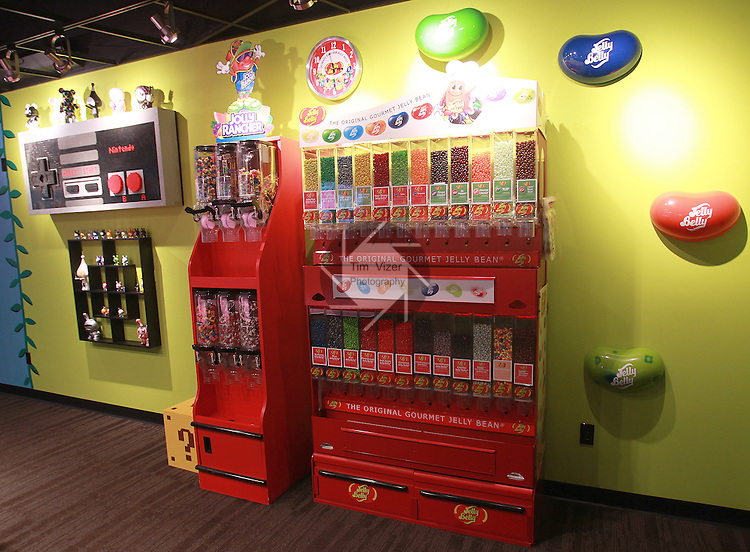 CrowdSource, based in Swansea, has a huge break room with Jelly Belly jelly bean dispensers - free to employees - is decorated in an ultra-modern motif, such as the Nintendo gaming controller wall decoration at left. The content and search engine optimization business recently bought out one of their top competitors, San Francisco-based Servio.