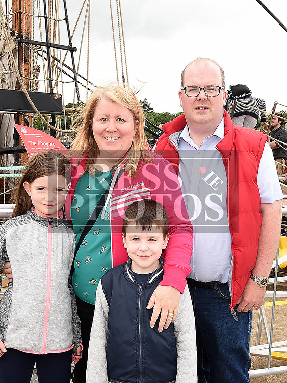 Andrew, Martha, Samuel and Ruby Fitzsimons at the Drogheda Maratime Festival. Photo:Colin Bell/pressphotos.ie