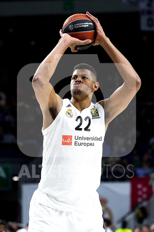 Real Madrid's Walter Tavares during Euroligue match between Real Madrid and Zalgiris Kaunas at Wizink Center in Madrid, Spain. April 4, 2019.  (ALTERPHOTOS/Alconada)