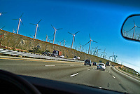 San Gorgonio Pass, Palm Springs, Wind turbines
