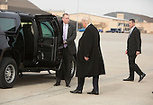 President-elect of The United States Donald J. Trump arrives Joint Base Andrews in Maryland January 19, 2017the day before his swearing in as 45th President of The United States. <br /> Credit: Chris Kleponis / Pool via CNP
