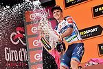 Damiano Cima (ITA) Nippo-Vini Fantini-Faizane from the breakaway wins Stage 18 of the 2019 Giro d'Italia, running 222km from Valdaora-Olang to Santa Maria di Sala, Italy. 30th May 2019<br /> Picture: Gian Mattia D'Alberto/LaPresse | Cyclefile<br /> <br /> All photos usage must carry mandatory copyright credit (© Cyclefile | Gian Mattia D'Alberto/LaPresse)