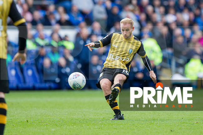 Barry Bannan of Sheffield Wednesday shoots at goal during the Sky Bet Championship match between Cardiff City and Sheffield Wednesday at Cardiff City Stadium, Cardiff, Wales on 16 September 2017. Photo by Mark  Hawkins / PRiME Media Images.
