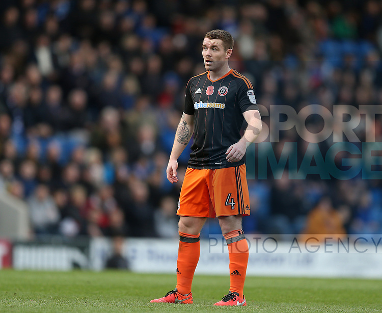 John Fleck of Sheffield Utd  during the English League One match at the Proact Stadium, Chesterfield. Picture date: November 13th, 2016. Pic Simon Bellis/Sportimage