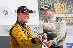Felix Rosenqvist Celebrates the title of the Formula 3 Macau Grand Prix during the 61st Macau Grand Prix on November 16, 2014 at Macau street circuit in Macau, China. Photo by Aitor Alcalde / Power Sport Images