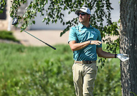 26th July 2020, Blaine, MN, USA;  Richy Werenski lets go of his club at the end of his swing on the 16th hole during the final round of the 3M Open golf tournament at TPC Twin Cities in Blaine, Minnesota