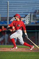 Williamsport Crosscutters left fielder Enmanuel Garcia (15) at bat during a game against the Auburn Doubledays on June 26, 2016 at Falcon Park in Auburn, New York.  Auburn defeated Williamsport 3-1.  (Mike Janes/Four Seam Images)