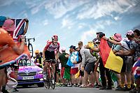 Tiesj Benoot (BEL/Lotto Soudal) up the Col du Galibier (HC/2622m/23km@5.1%)<br /> <br /> Stage 18: Embrun to Valloire (208km)<br /> 106th Tour de France 2019 (2.UWT)<br /> <br /> ©kramon