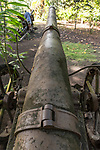 Vilu War Museum, Guadalcanal, Solomon Islands; Japanese anti-aircraft cannons on display
