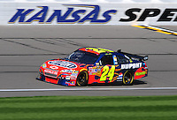 Sept. 27, 2008; Kansas City, KS, USA; Nascar Sprint Cup Series driver Jeff Gordon during practice for the Camping World RV 400 at Kansas Speedway. Mandatory Credit: Mark J. Rebilas-