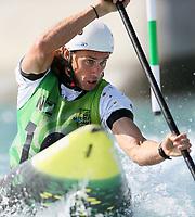 Ian Burrows, Australia, C1 Oceania Canoe Slalom Championships, Whero Whitewater Park, Auckland, New Zealand, 1st February 2020. Photo: Simon Watts/www.bwmedia.co.nz