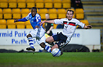 St Johnstone v Dundee.....02.01.13      SPL.Nigel Hasselbaink shoots wide of goal.Picture by Graeme Hart..Copyright Perthshire Picture Agency.Tel: 01738 623350  Mobile: 07990 594431
