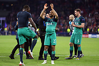 Hat trick hero Lucas of Tottenham Hotspur hides the ball up his shirt as he celebrates after AFC Ajax vs Tottenham Hotspur, UEFA Champions League Football at the Johan Cruyff Arena on 8th May 2019