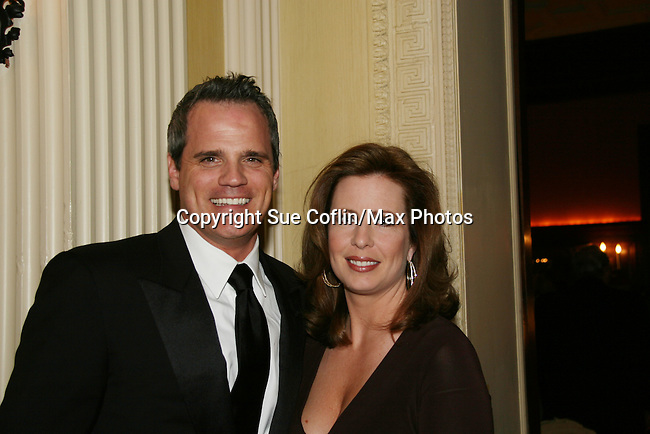 """As The World Turns' Michael Park poses with Martha Byrne as they attend """"When You Wish Upon A Star"""" on March 6, 2010 which benefits Child Life and Creative Arts Therapy Department, Maria Fareri Children's Hospital at Westchester Medical Center, Westchester, New York. The evening began with a cocktail reception and silent auction, a children's performance (singing) followed by dinner, dancing and more. (Photo by Sue Coflin/Max Photos)"""