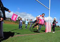 Horowhenua-Kapiti's Ryan Shelford scores during the Pink Batts Heartland Championship 2013 season launch at Waikanae RFC, Waikanae, New Zealand on Tuesday, 13 August 2013. Photo: Dave Lintott / lintottphoto.co.nz