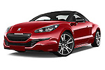 Stock pictures of low aggressive front three quarter view of a 2014 Peugeot RCZ R 2 Door Coupe 2WD Low Aggressive