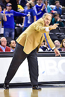 Baltimore, MD - Hofstra Pride head coach Joe Mihalich yells out assignment in the final seconds of their semi finals game against William & Mary Tribe during the CAA Basketball Tournament at the Royal Farms Arena in Baltimore, Maryland on March 6, 2016.  (Photo by Philip Peters/Media Images International)