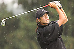 Marcela Leon from Monterrey, Mexico tees off on the 8th tee during Alliance Bank Golf Classic in Syrcause, NY.