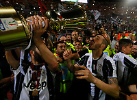 Gonzalo Higuain and Claudio Marchisio   celebrate after win the Italian Cup Final  football match against Lazio  at  the Olympic stadium in Rome, Italy on the 17th May 2017