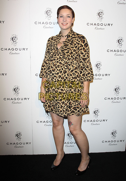 DIABLO CODY.Fashion Designer Gilbert Chagoury First Ever Runway Show held At The Pacific Design Center, West Hollywood, California, USA..April 28th, 2010.full length brown leopard print dress pregnant .CAP/ADM/KB.©Kevan Brooks/AdMedia/Capital Pictures.