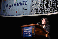 July 24, 2012  (Washington, DC) Jeanne White-Ginder, mother of Ryan White, gives the keynote speech at the D.C. AIDS Forum at the George Washington Lisner auditorium during the AIDS 2012 conference.    (Photo by Don Baxter/Media Images International)