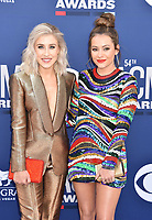 LAS VEGAS, CA - APRIL 07: Maddie Marlow (L) and Tae Dye of Maddie &amp; Tae attend the 54th Academy Of Country Music Awards at MGM Grand Hotel &amp; Casino on April 07, 2019 in Las Vegas, Nevada.<br /> CAP/ROT/TM<br /> &copy;TM/ROT/Capital Pictures