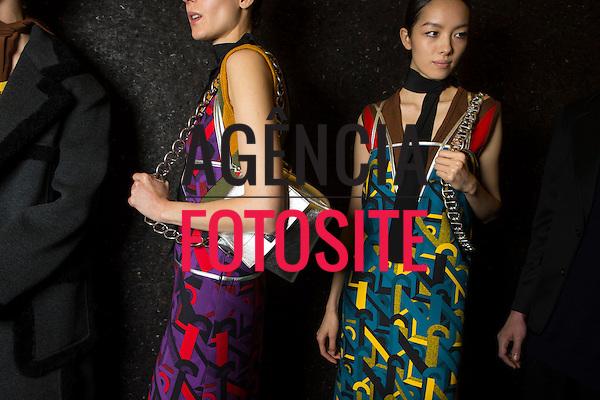 Milao, Italia &ndash; 02/2014 - Desfile de Prada durante a Semana de moda de Milao - Inverno 2014. <br /> Foto: FOTOSITE