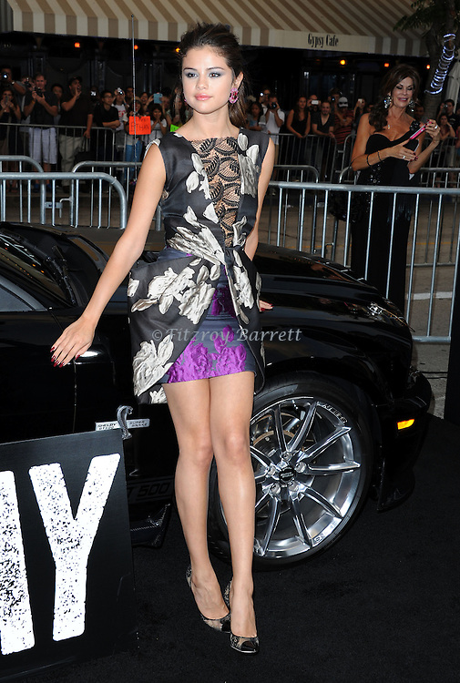 Selena Gomez at the Los Angels premiere of Getaway held at the Regency Village Theater August 26, 2013