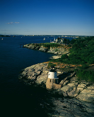 Aerial View of Castle Hill Lighthouse