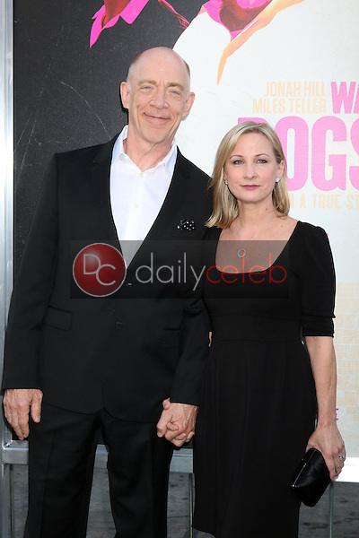 JK Simmons, Michelle Schumacher<br /> at the &quot;War Dogs&quot; Premiere, TCL Chinese Theater IMAX, Hollywood, CA 08-15-16<br /> David Edwards/DailyCeleb.com 818-249-4998