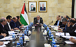 Palestinian Prime Minister Mohammad Ishtayeh chairs the meeting of national economic development team, in the West Bank city of Ramallah, August 06, 2019. Photo by Prime Minister Office