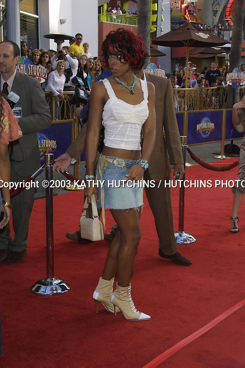 ©2003 KATHY HUTCHINS / HUTCHINS PHOTO AGENCY.WORLD PREMIERE OF 2 FAST 2 FURIOUS.UNIVERSAL AMPHITHEATER.UNIVERSAL CITY, CA.JUNE 3 , 2003..KELLY ROWLAND.