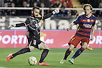 Rayo Vallecano's Juan Carlos Martin (l) and FC Barcelona's Ivan Rakitic during La Liga match. March 3,2016. (ALTERPHOTOS/Acero)