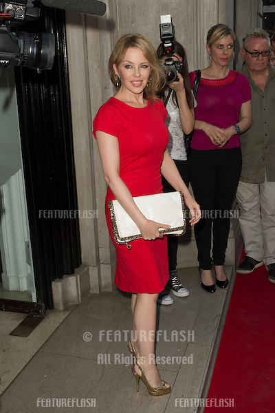 Kylie Minogue attends the Warhol/Mauro colaborative pop art show at the Halcyon Gallery in London, 24/07/2012 Picture by: Simon Burchell / Featureflash
