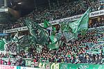 08.03.2019, Weser Stadion, Bremen, GER, 1.FBL, Werder Bremen vs FC Schalke 04, <br /> <br /> DFL REGULATIONS PROHIBIT ANY USE OF PHOTOGRAPHS AS IMAGE SEQUENCES AND/OR QUASI-VIDEO.<br /> <br />  im Bild<br /> <br /> Ostkurve feature Fahne<br /> <br /> Foto &copy; nordphoto / Kokenge