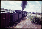 &quot;276-6 Double headed freight climbs into town of Falfa. Note extra tank&quot;.<br /> D&amp;RGW  Falfa, CO  Taken by Owen, Mac - 6/1975