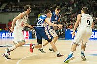 Real Madrid´s Rudy Fernandez and Anadolu Efes´s Matt Janning during 2014-15 Euroleague Basketball match between Real Madrid and Anadolu Efes at Palacio de los Deportes stadium in Madrid, Spain. December 18, 2014. (ALTERPHOTOS/Luis Fernandez) /NortePhoto /NortePhoto.com